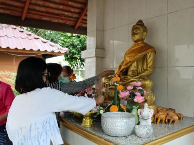 พิธีสักการะสิ่งศักดิ์สิทธิ์ประจำปี พ.ศ. 2564 ของโรงพยาบาลสูงเม่น